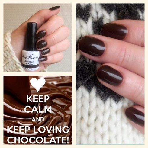 hot chocolate gel polish