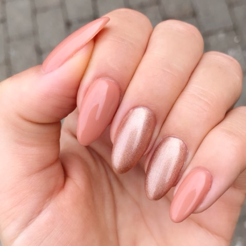 Soft Rose Mettalic Gel Polish
